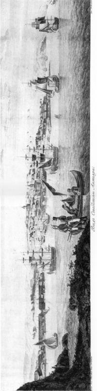 Вид Севастополя или Ахтияра. Гравюра по рисунку художника А. де Палдо. 1805г. (ГМП).