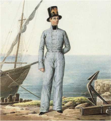 Матрос Гвардейского экипажа в летней рабочей одежде. 1810–1811гг.