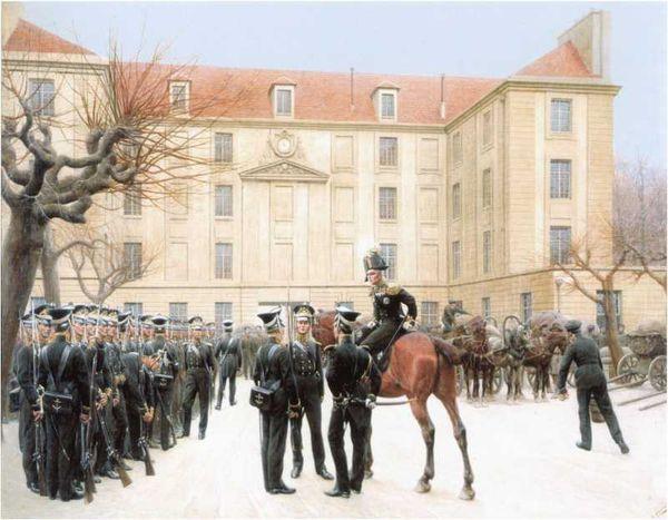 Гвардейский экипаж в Париже в 1814 году. <emphasis>Картина кисти И.С. Розена. 1911г. (ЦВММ).