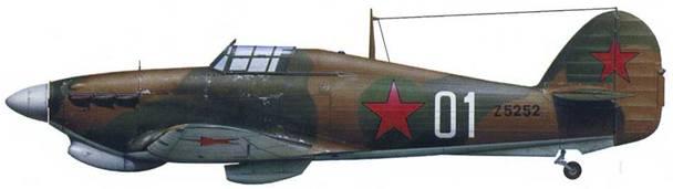 «Харрикейн» Mk ПВ Z5252, летчик А.А.Кузнецов, ВВС Северного Флота, аэродром Ваенга, сентябрь 1941
