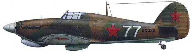 «Харрикейн» Mk IIВ ВN233, майор Борис Сафонов, 78 ИАП ВВС СФ, аэродром Ваенга, начало 1942