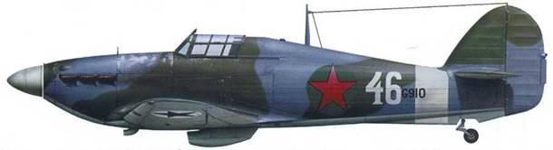 «Харрикейн» Mk 11В BG910, летчик майор Виктор Крупский (или лейтенант Александр Николаенков), 760-й ПАП, аэродром «Боярская», Северная Карелия, начало 1942