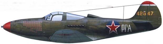 P-39Q-15 44-2547, летчик – майор Григорий Речкалов, 16-й ГвИАП, Германия, 1945