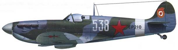 «Спитфайр» Mk VB ЕР210, 57 ГвИАП, Северо-Кавказский фронт, апрель 1943