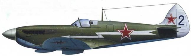 «Спитфайр» Mk IXE (серийный № неизвестен), летчик – подполковник Василий Мациевич, 26-й ГвИАП, Ленинград, весна 1945