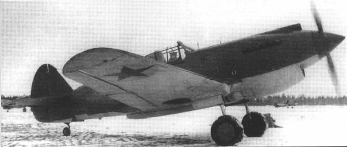 «Томагаук» II АН965, па чем одно время летал ас Степан Ридный из 126-го ИАП, зима 1941-42 гг.