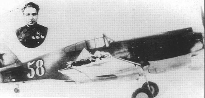 Эти фотографии хорошо показывают во всех деталях «Томагаук» Алексея Хлобыстова, на котором он вылетел в легендарный вылет 8 апреля 1942 года, когда таранил два истребителя противника. Во вставке на верхнем фото – официальная фотография Хлобыстова.