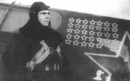Летчик Семеньков В.П, который летал в составе как 19 так и 20 ГвИАП. О нем известно очень мало, можно только предположить что 33 звезды символизируют как личные, так и групповые победы летчиков всего полка. В обоих полках процветал коллективизм, когда большинство побед было групповыми.