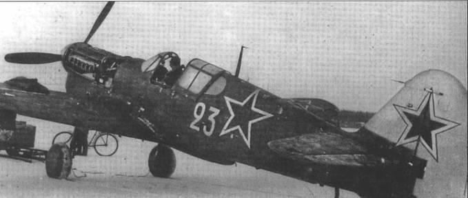 Р-40М-10 43-5925, который совершил вынужденную посадку в Финляндии 27 декабря 1943 года. Летчик – младший лейтенант Ревин попал в плен, а самолет летал в составе финских ВВС как КН-51.
