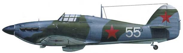 «Харрикейн» Mk IIВ (серийный помер неизвестен), l-й ГвИАП, Калининский фронт, весна 1942.