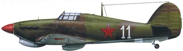 «Харрикейн» Mk IIB (серийный номер неизвестен), 22-й ЗАП, аэродром «Иваново», 1942.