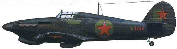 «Харрикейн» Mk IIА (Z2899), полк из состава 6 ИАК ПВО, Московская область, 1942.