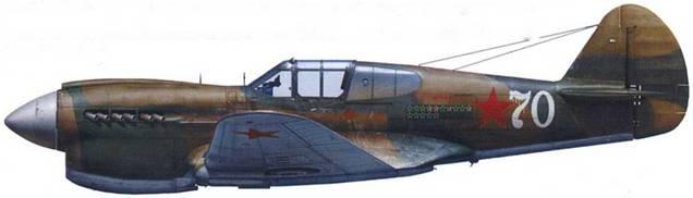«Киттихаук» I (серийный неизвестен), летчик лейтенант Георгий Громов, 20 ГвИАП, (продром «Мурмаши», начало 1943 г.