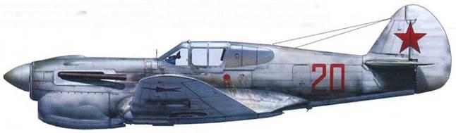 Р-40Е (серийный неизвестен) с двигателем Климов М-105П, 196-й ИАП, Ленинградский фронт, весна 1942.