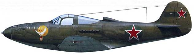 Р-390 (серийный неизвестен), летчик – капитан Григорий Дмитрюк, 19-й ГвИАП, аэродром «Шонгуй», осень 1943.