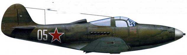 Р-390 (серийный номер неизвестен), летчик – старший лейтенант Николай Диденко, 2-й ГвИАП ВВС СФ, аэродром «Ваенга-2», июнь 1944. Николай Диденко прибыл в 2-й ГвИАП в октябре 1941 года и к концу войны одержал 14 побед в 378 боевых вылетах. Удостоен звания ГСС 5 ноября 1944 года. Большинство побед одержал именно на этой «Кобре».