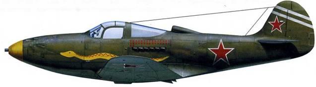 P-39N (серийный номер неизвестен), летчик – майор Султан Амет-Хан, 9-й ГвИАП, аэродром «Мелитополь», сентябрь 1943. На этом самолете .желтый кок винта, хотя некоторые художники изображают эту машину с красным коком винта. Однако по воспоминаниям ветеранов цвет 3-й эскадрильи Султан Амет-Хана был желтый.