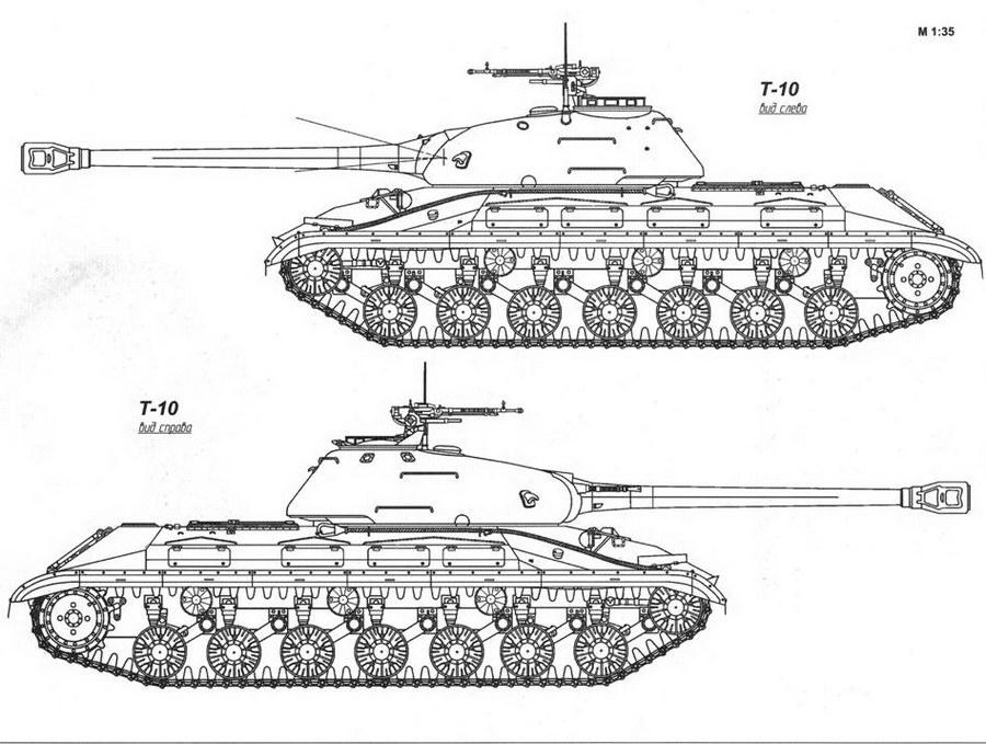 Конструкция танка Т-10 «объект 730»