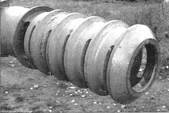 Щелевой дульный тормоз 122-мм орудия М-68Т2С танка Т-10М