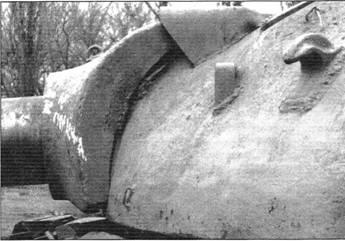 Броневая маска орудия танка Т-10М