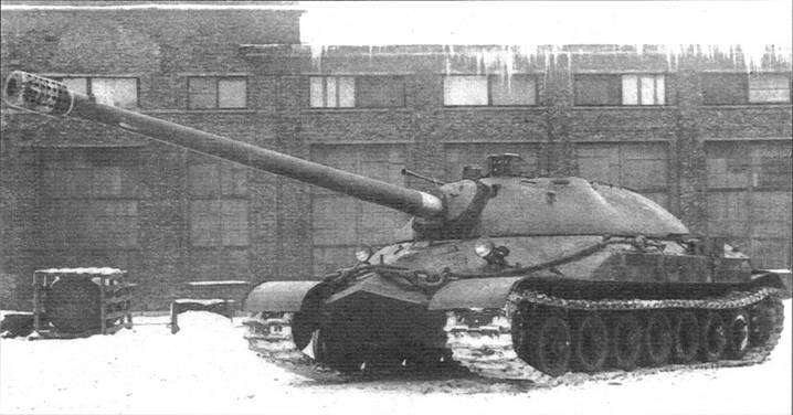 Улучшенный вариант танка ИС-7 с новым 130-мм орудием С-70, заменившим С-26. Внешним отличием служила конструкция дульного тормоза с круглыми отверстиями. 1948 г.