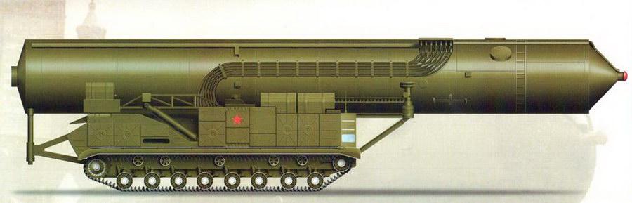 Самоходная пусковая установка СМ-<a href='https://arsenal-info.ru/b/book/3039497517/6' target='_blank'>СП21 ракеты</a> РТ-20П на базе шасси тяжёлого танка Т-10