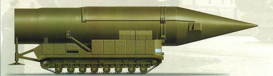 Самоходная пусковая установка СМ-СП21 ракеты «Гном» на базе шасси тяжёлого танка Т-10