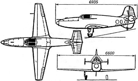 Самолет с ракетным двигателем «БИ-1»