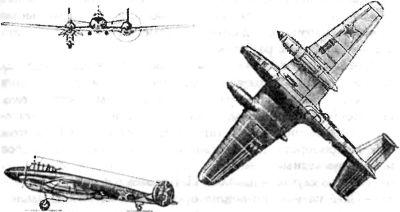 Реактивные бомбардировщики «Пе-2»