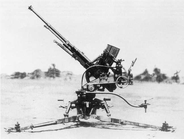 20-мм автоматическая зенитная пушка Тип 98. В ходе боев на Халхин-Голе такие орудия использовались и как противотанковые (ЯМ)