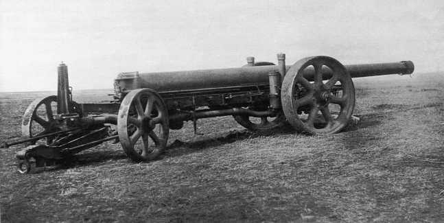 150-мм орудие Тип 89 в транспортном положении. Эта пушка была захвачена в боях на Халхин-Голе танкистами 11-й танковой бригады в августе 1939 года (АСКМ