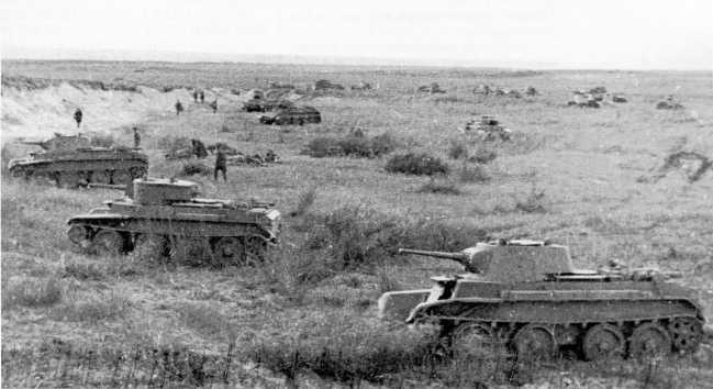 Позиция танкистов 11-й танковой бригады. Июль-август 1939 года (АСКМ).