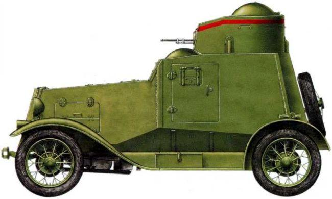 Легкий бронеавтомобиль ФАИ, предположительно из состава9-й мотоброневой бригады. Июль 1939 года.