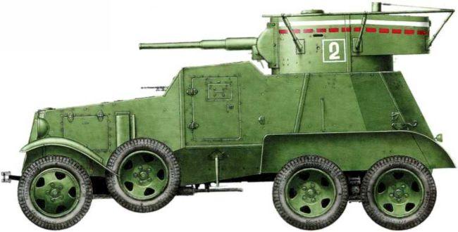 Бронеавтомобиль БА-6 (радийный) из состава 9-й мотоброневой бригады. Эта машина была захвачена японцами в ходе боев 6–7 июля 1939 года