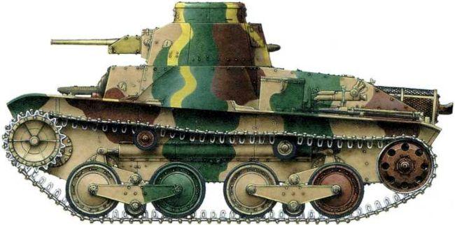Японский легкий танк Тип 94 «Ха-Го»с так называемой «маньчжурской»подвеской(усиленной)из состава4-го танкового полка Квантунской армии. Июль1939 года