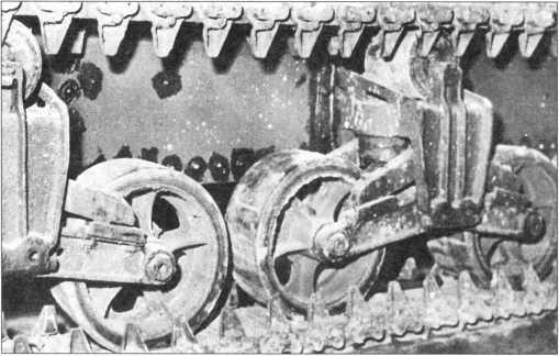 Тележки подвески ходовой части танка М3.