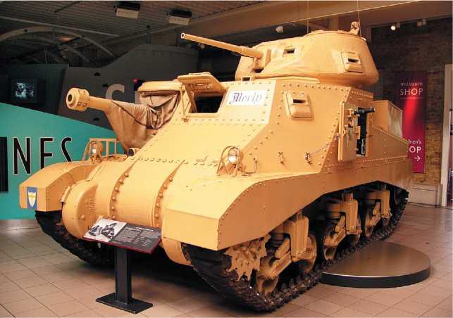 Крейсерский танк Grant I. Британский Имперский военный музей в Лондоне. Фото С. Балакина.