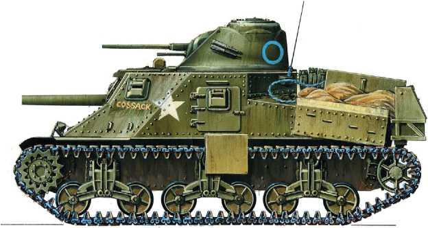 Крейсерский танк Lee I. Эскадрон «С» 150-го полка английского Королевского танкового корпуса, Бирма, март 1945 года. Рисунок М. Дмитриева.