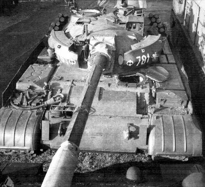Т-55АМ «Мерида». Танк оснащен системой управления огнем «Мерида»