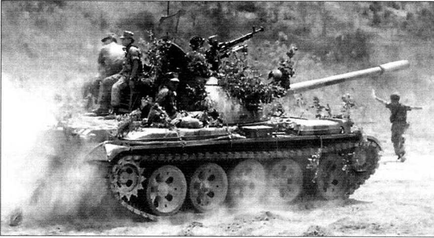 Пакистанский танк «Тип 59» выходит на исходный рубеж. Война с Индией. 1971 год