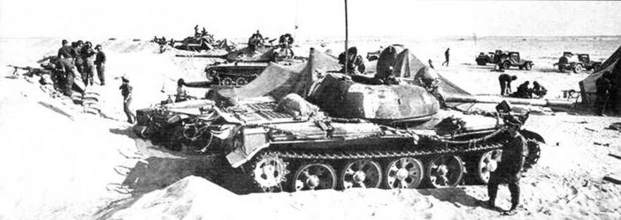 Захваченный израильскими войсками египетский Т-55. Синай, 1973 год