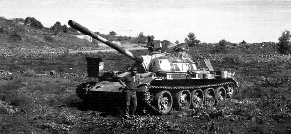 Сирийский танк Т-55. Голанские высоты, 1973 год