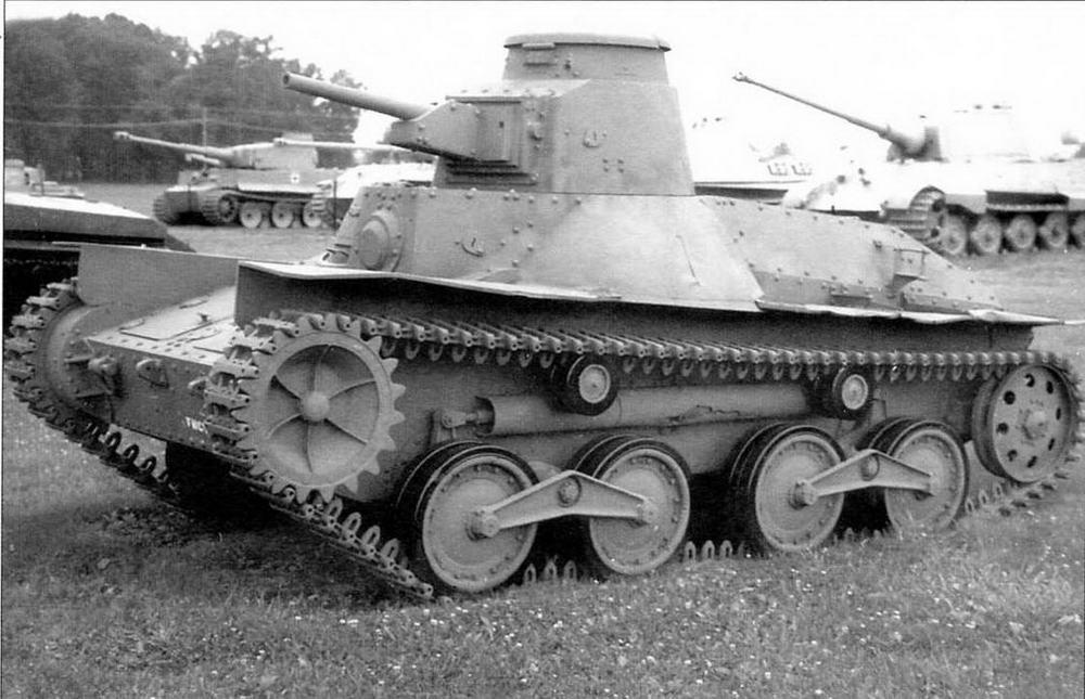 Легкий танк «Ха-го» в экспозиции танкового музея на Абердинском полигоне в США
