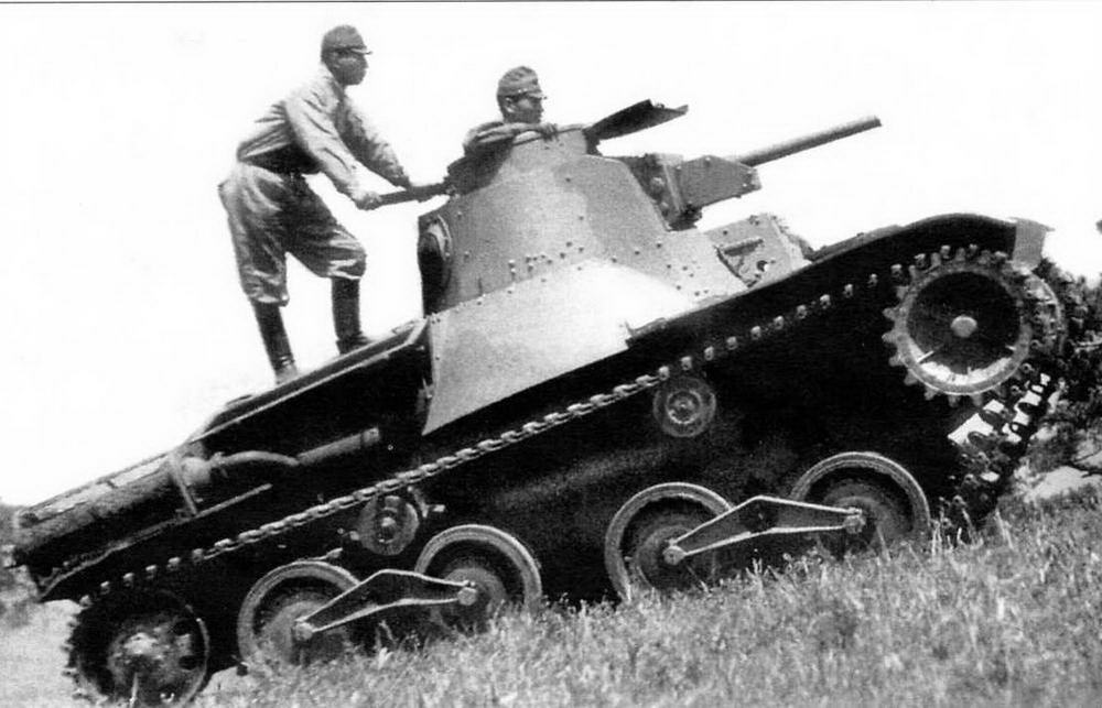 Танк «Ха-го» на маневрах японской армии. 1930-е годы