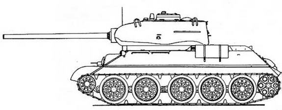 Т-34 с 85-мм пушкой Д-5Т