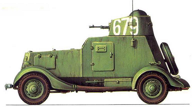 ЛЕГКИЙ БРОНЕАВТОМОБИЛЬ БА-20М. Маньчжурия, август 1945 г.