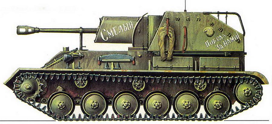 САМОХОДНО-АРТИЛЛЕРИЙСКАЯ УСТАНОВКА СУ-76М. Забайкальский фронт, август 1945 г.