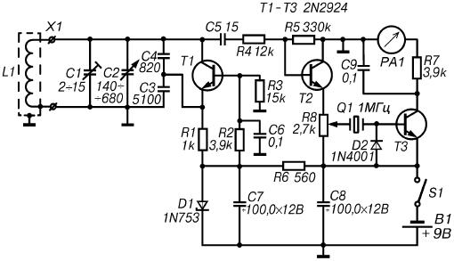 Простой металлоискатель своими руками на транзисторах