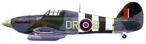 Хоукер «Харрикейн Mk IIС», MW367, DR-B, 1697- е звено (авиационная почтовая служба), Нортхолт, июль 1944 года.