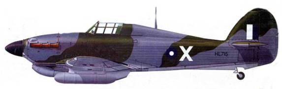 «Харрикейн Trap. Mk IIС», HL715, X, 1-я индийская эскадрилья, Кохир, начало 1944 года.